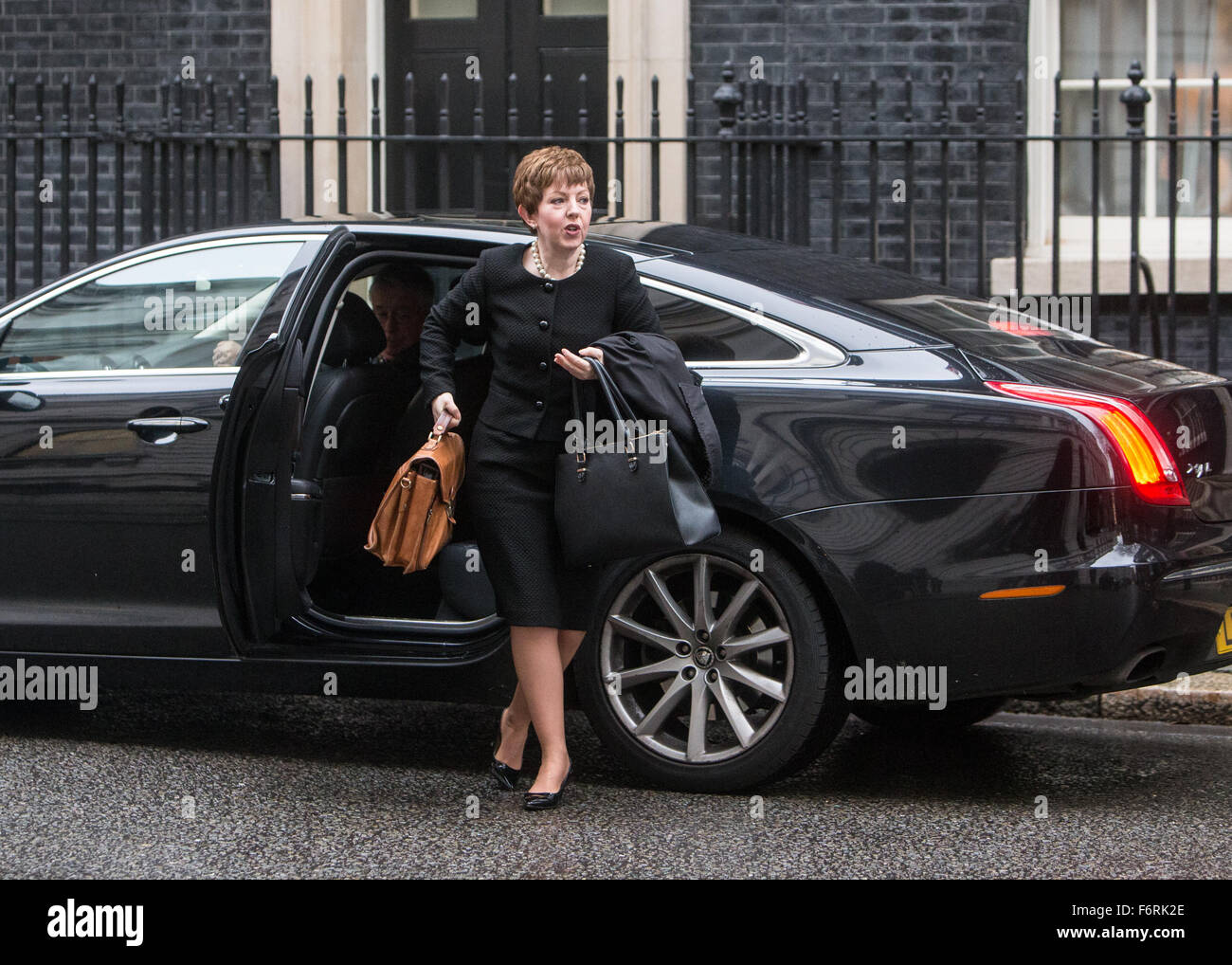 Tina Stowell,Baroness Stowell of Beeston,arrives at number 10 Downing Street.Baronnes Stowell is Leader of the House - Stock Image