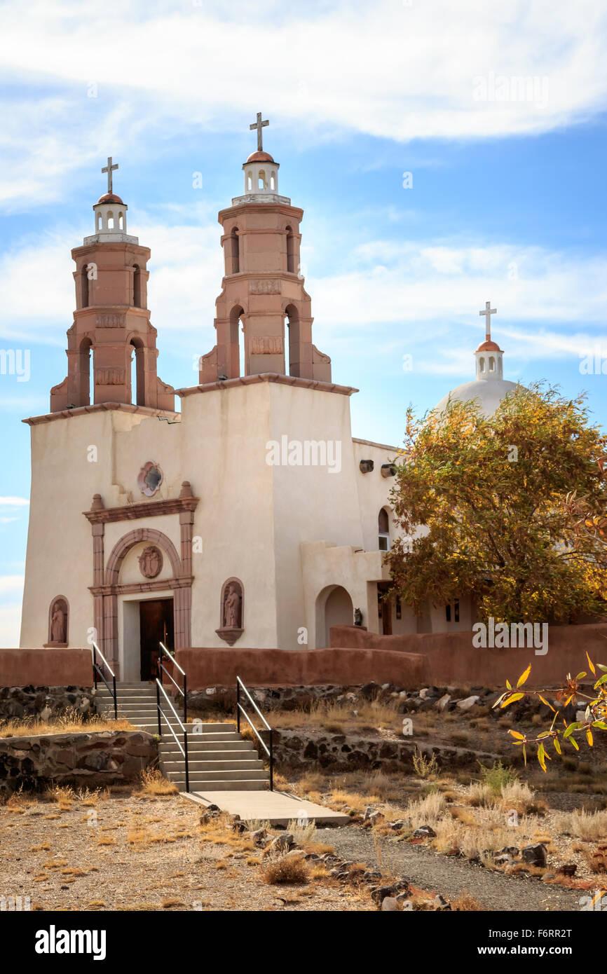 La Capilla de Todos Los Santos ( The Chapel of All Saints) in San Luis, CO - Stock Image