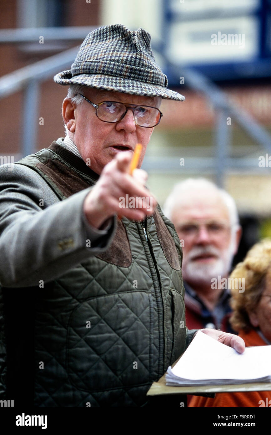 Auctioneer at Louth market. Lincolnshire. England. UK. - Stock Image