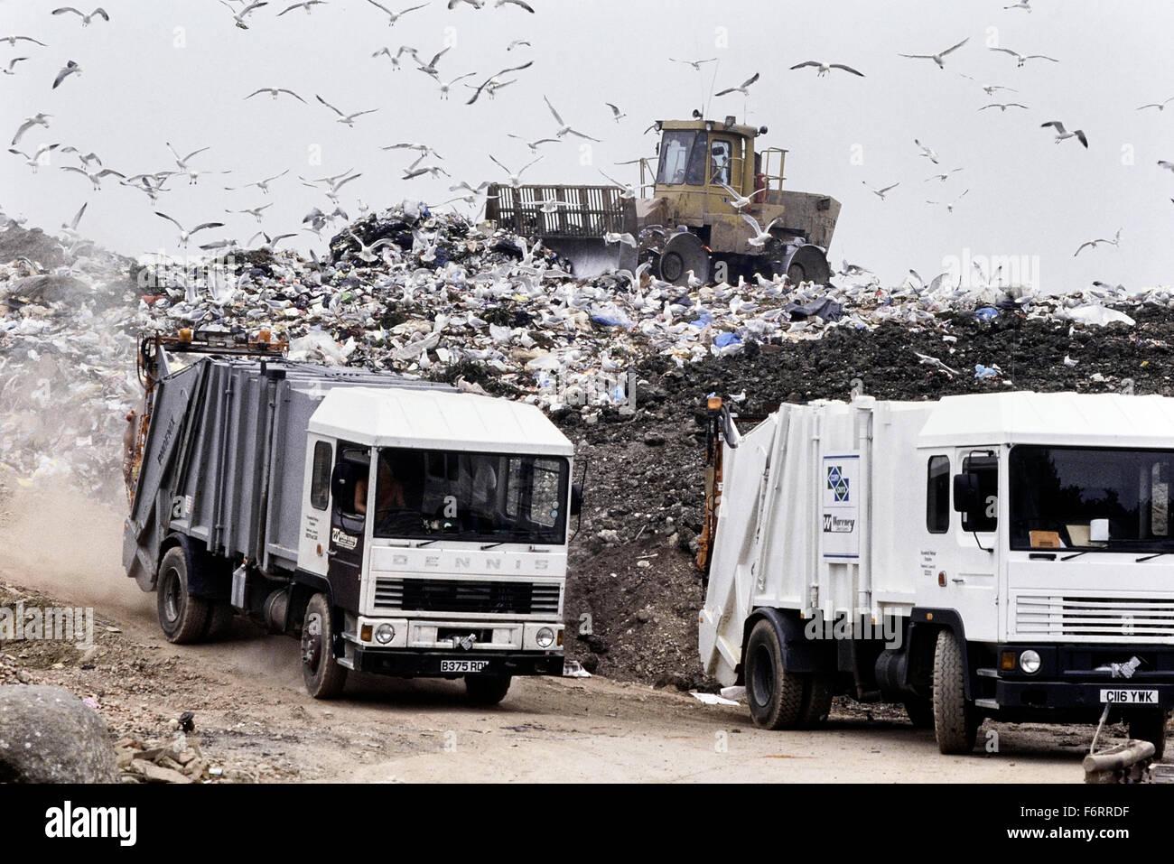 Landfill waste disposal site. UK - Stock Image