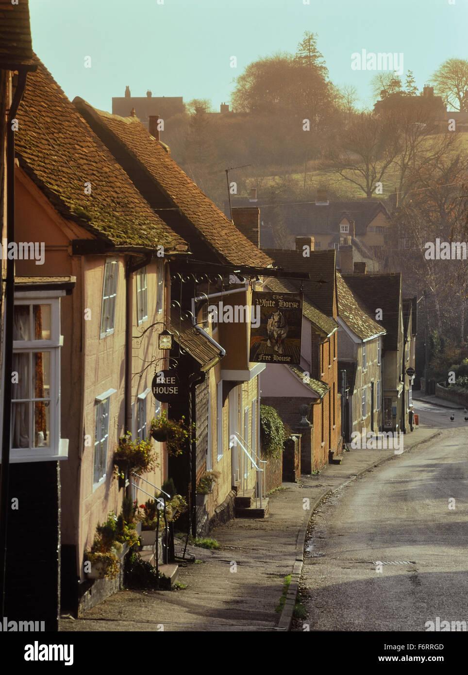 Kersey village. Suffolk. England. UK. Europe - Stock Image