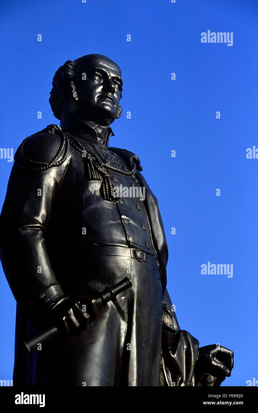 Sir John Franklin memorial statue. Spilsby, Lincolnshire. England. UK. Europe - Stock Image