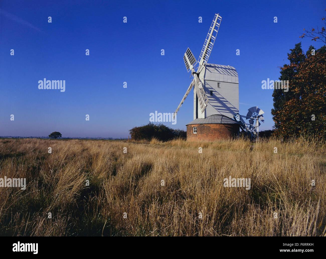 Aythorpe Roding windmill. Essex. England. UK. Europe - Stock Image