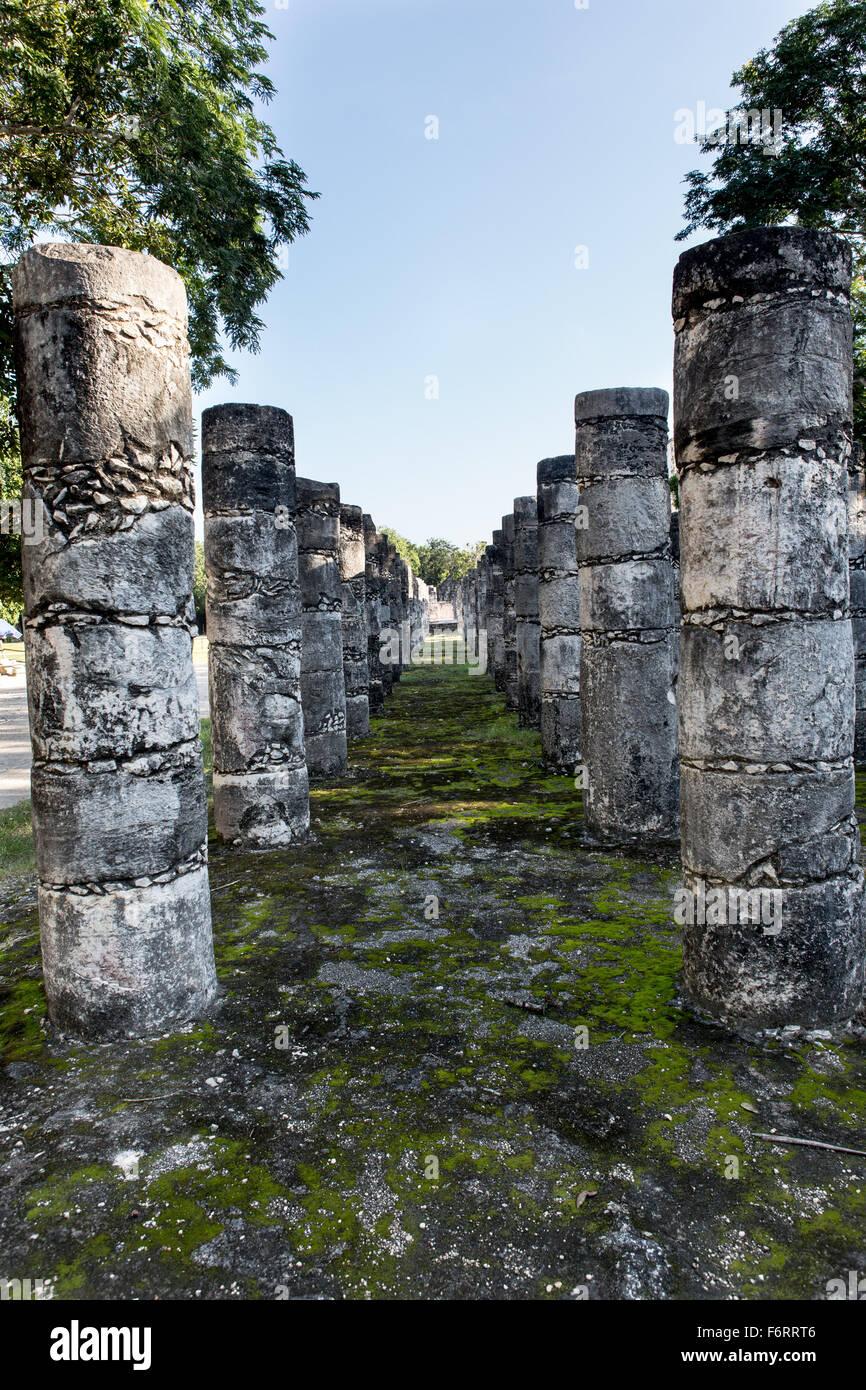 Mayan ruins at Chichen Itza, Yucatan peninsula, Mexico - Stock Image