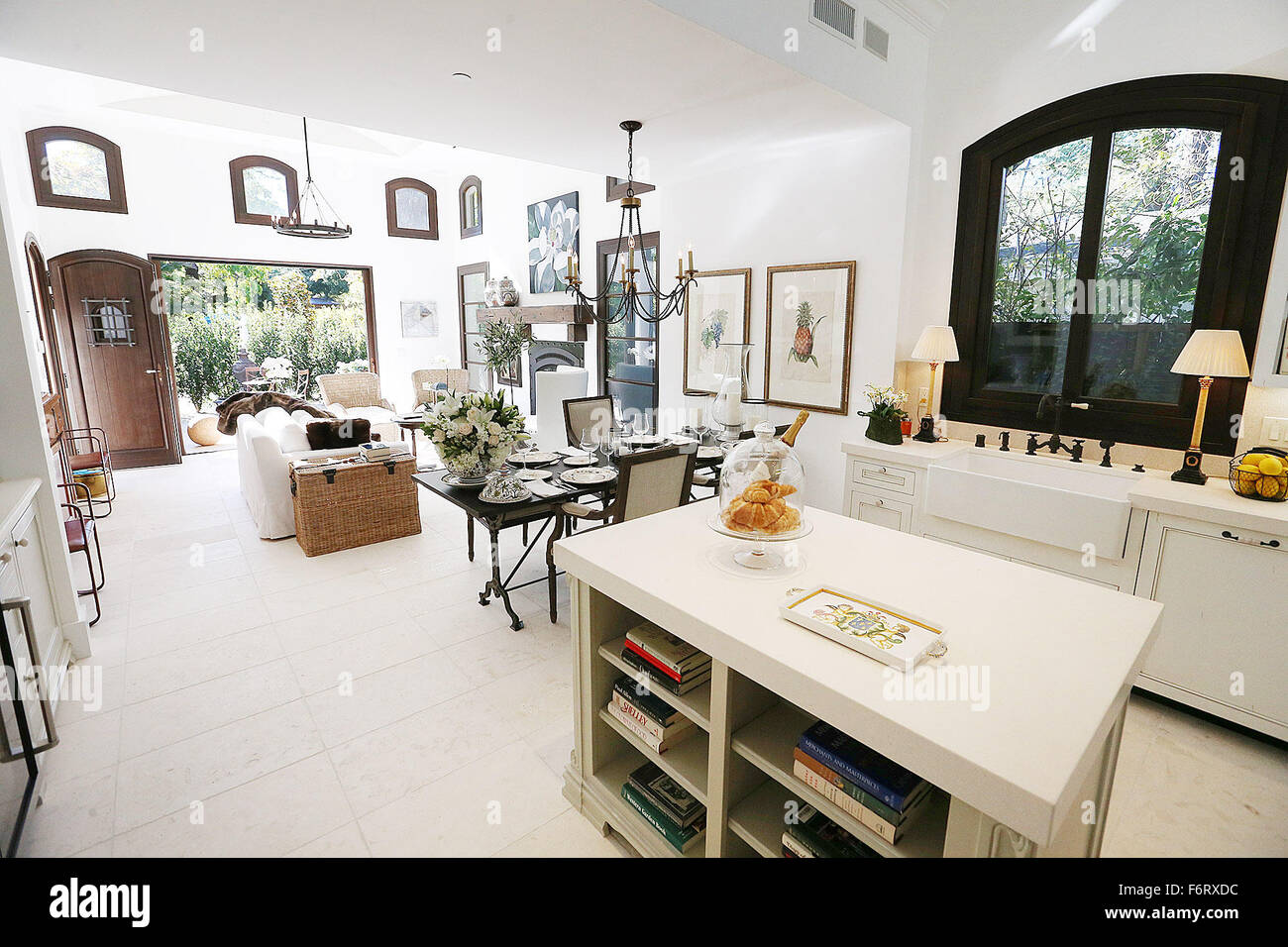 St Helena, CA, USA. 12th Nov, 2015. The kitchen and living room of ...