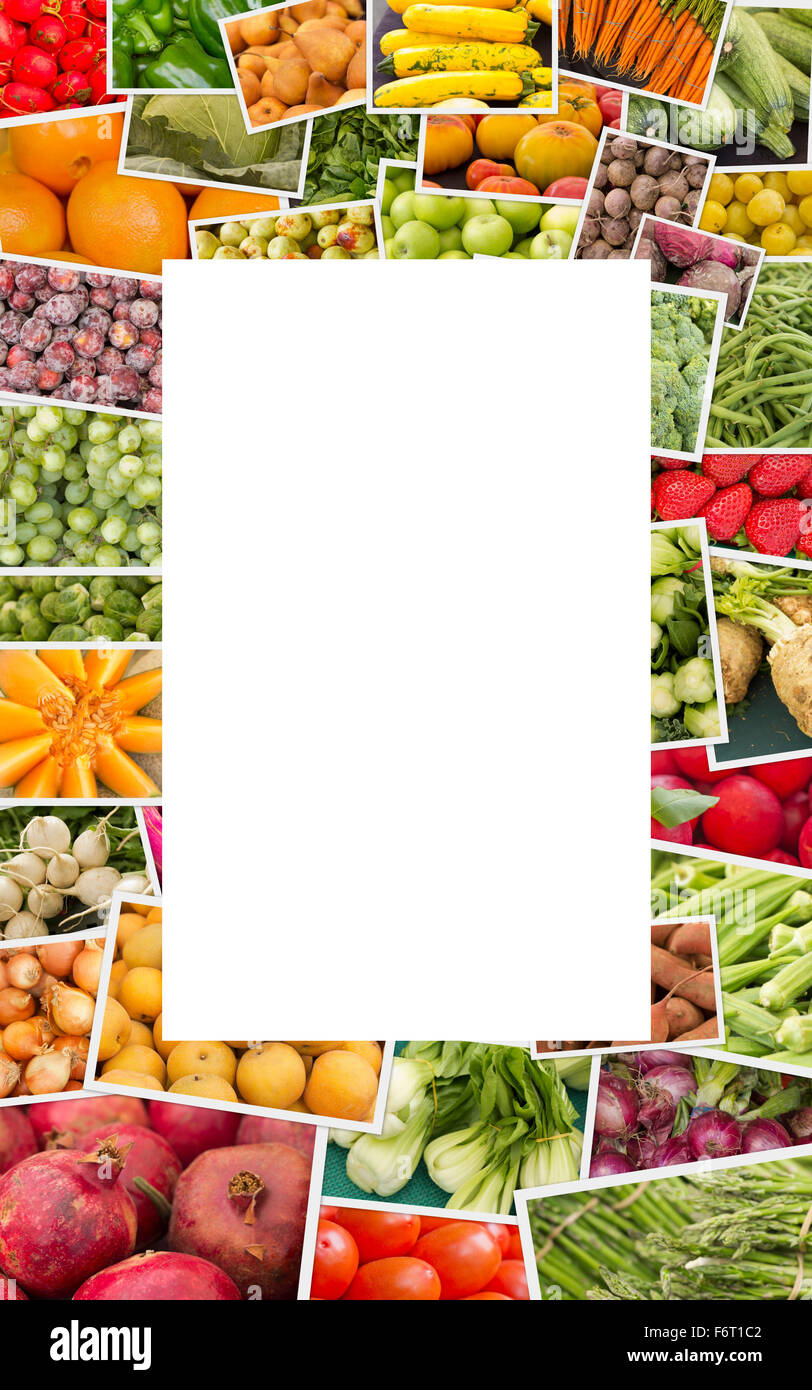 variety of popular farmers market fruits and vegetables in produce