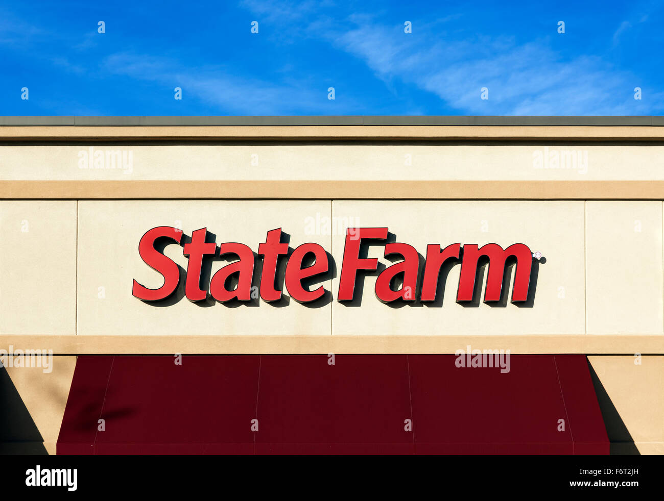 State Farm Insurance retail office. - Stock Image