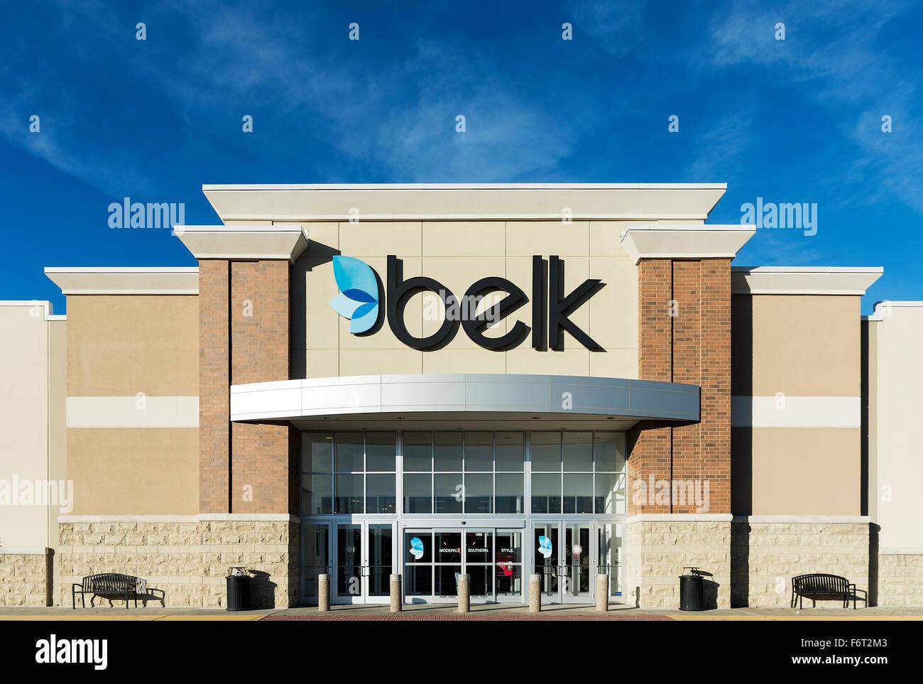 Belk department store exterior. - Stock Image