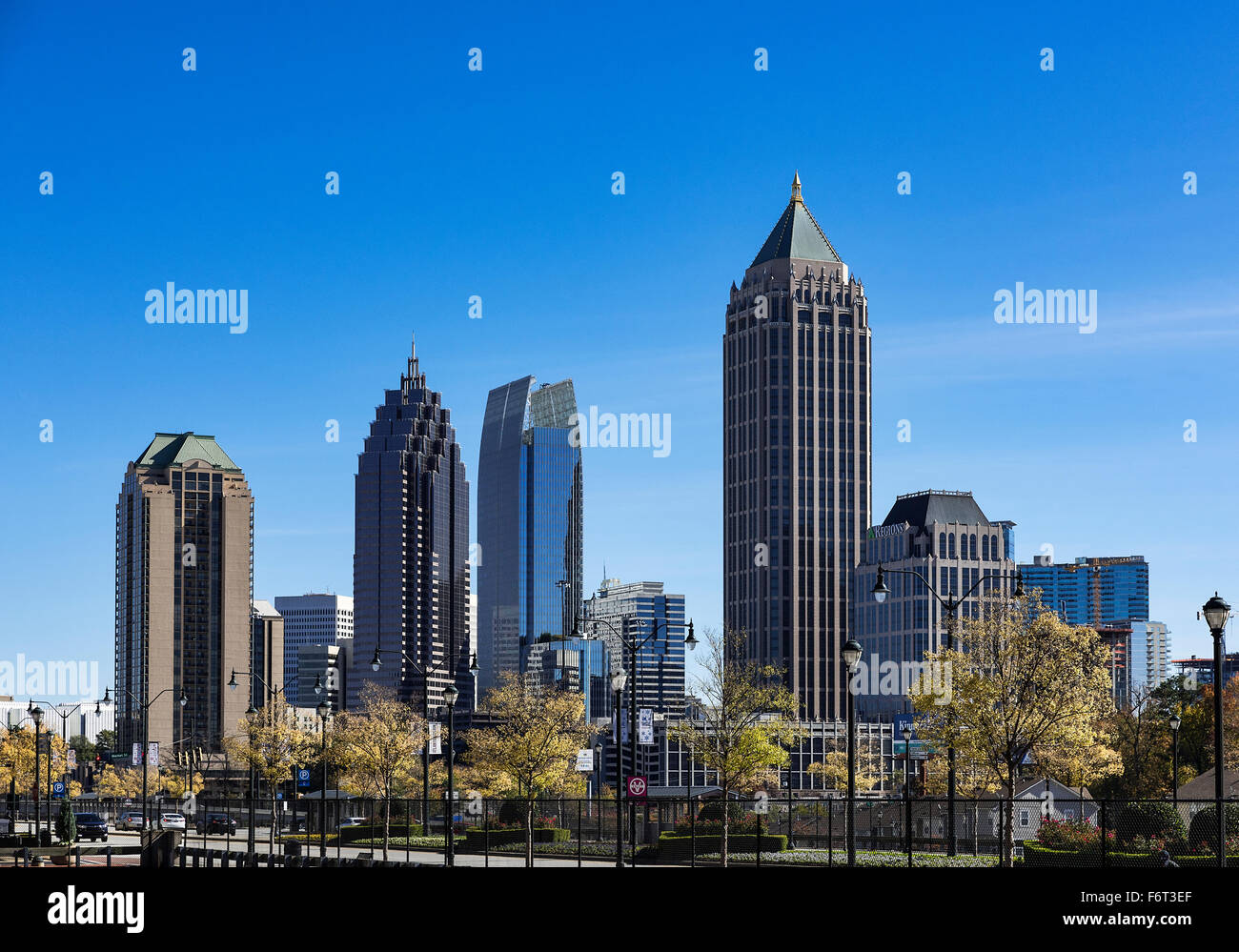 Downtown skyline, Atlanta, Georgia, USA - Stock Image