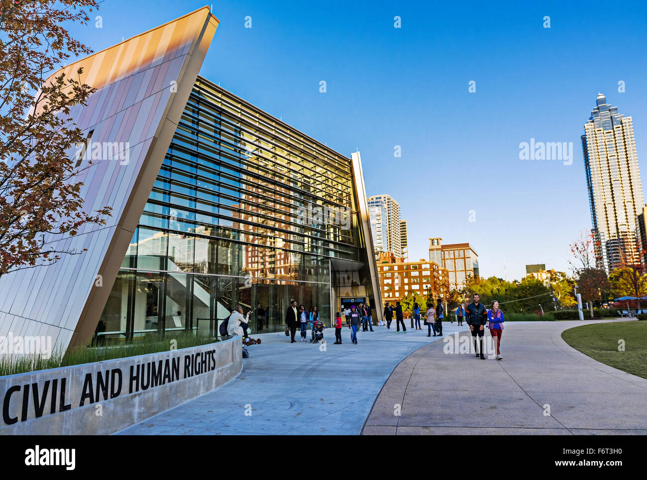 Center for Civil and Human Rights, Atlanta, Georgia, USA - Stock Image