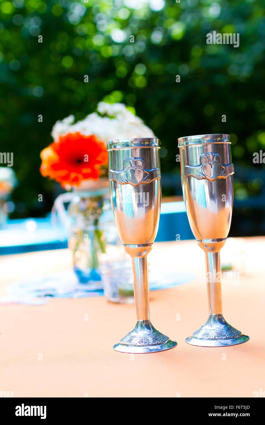 Cups Champagne Wedding Design Stock Photos Cups Champagne Wedding