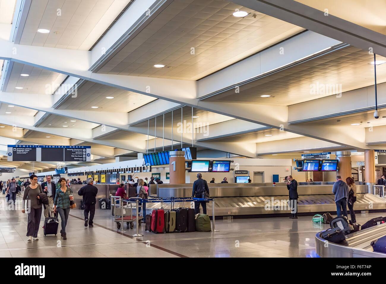 Baggage claim in the Atlanta airport, Georgia, USA - Stock Image