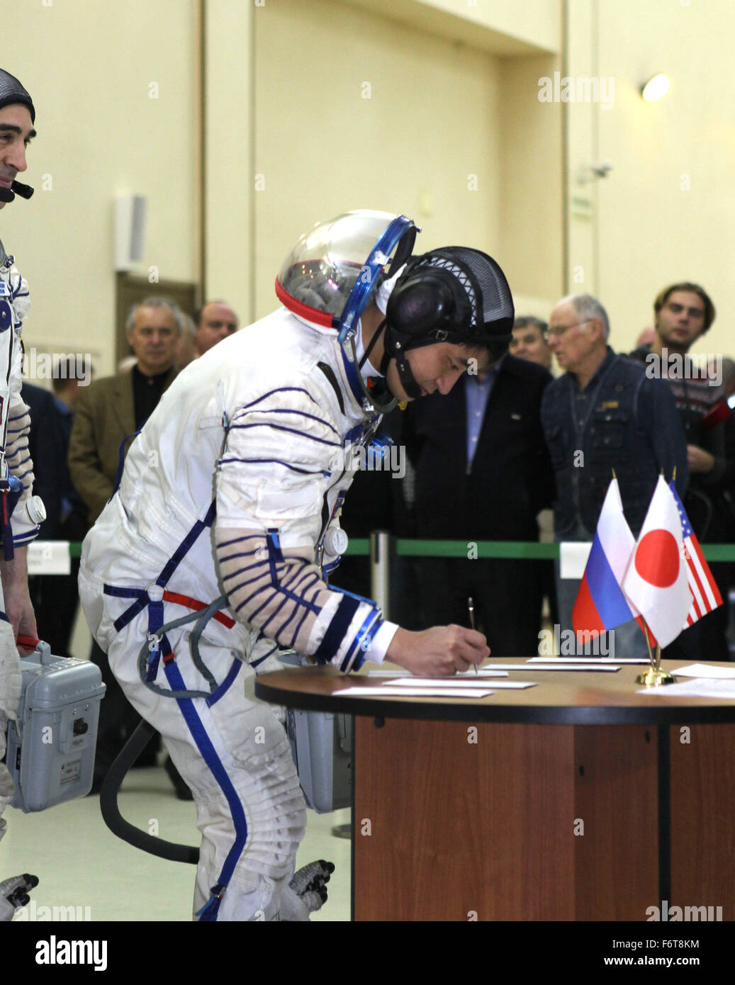 Star City, Russia. 19th November, 2015. International Space Station Expedition 46 backup crew member Japan Aerospace - Stock Image
