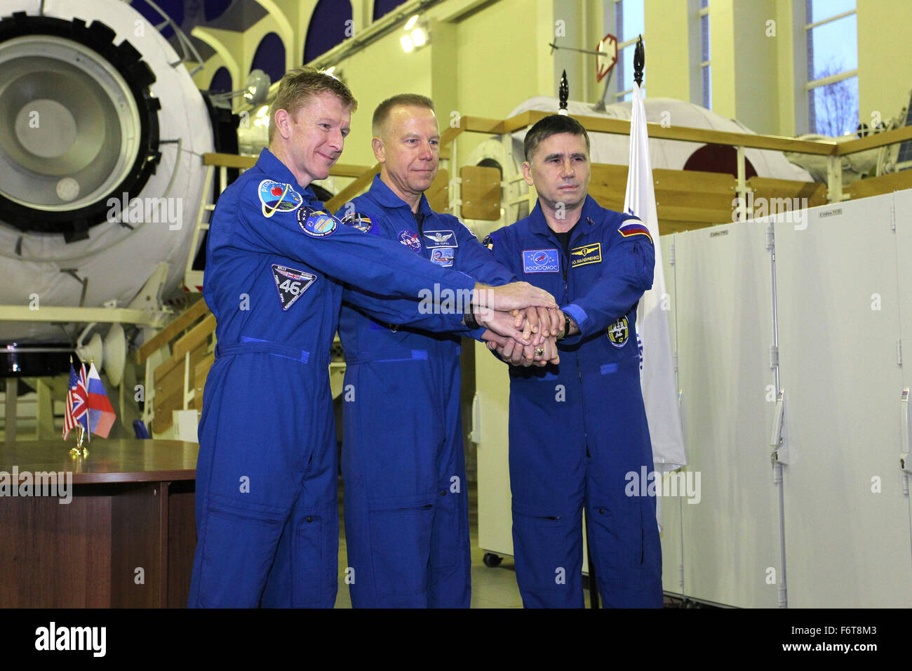 Star City, Russia. 19th November, 2015. International Space Station Expedition 46 prime crew members European Space - Stock Image