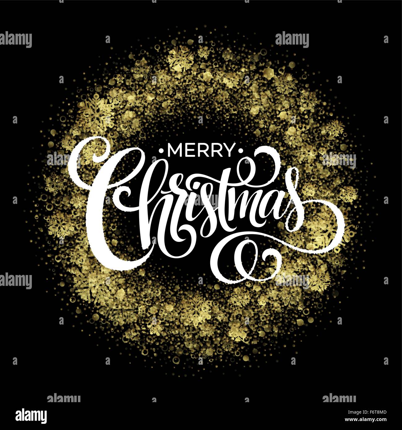 Christmas sparklers in shape of Christmas wreath on black background. Vector illustration - Stock Vector