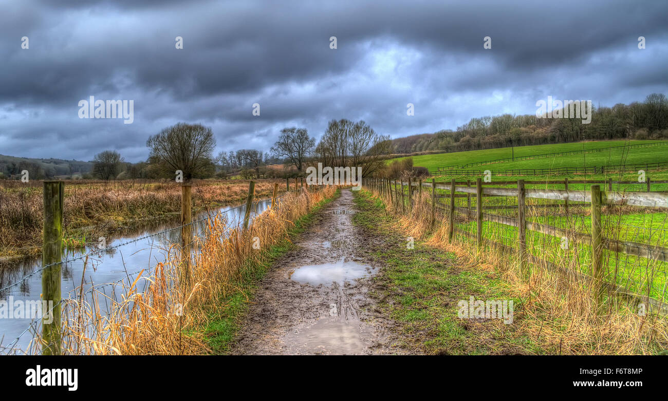 Chess Valley, Chilterns, UK - Stock Image