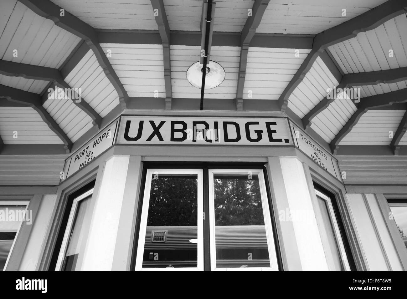 Uxbridge historical station in Ontario, Canada - Stock Image