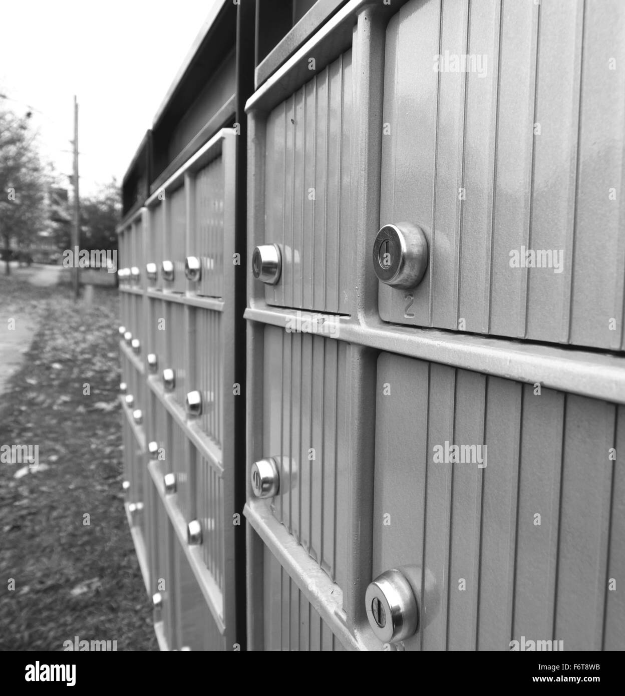 Canada Post mailboxes in a suburban area in Canada Stock Photo