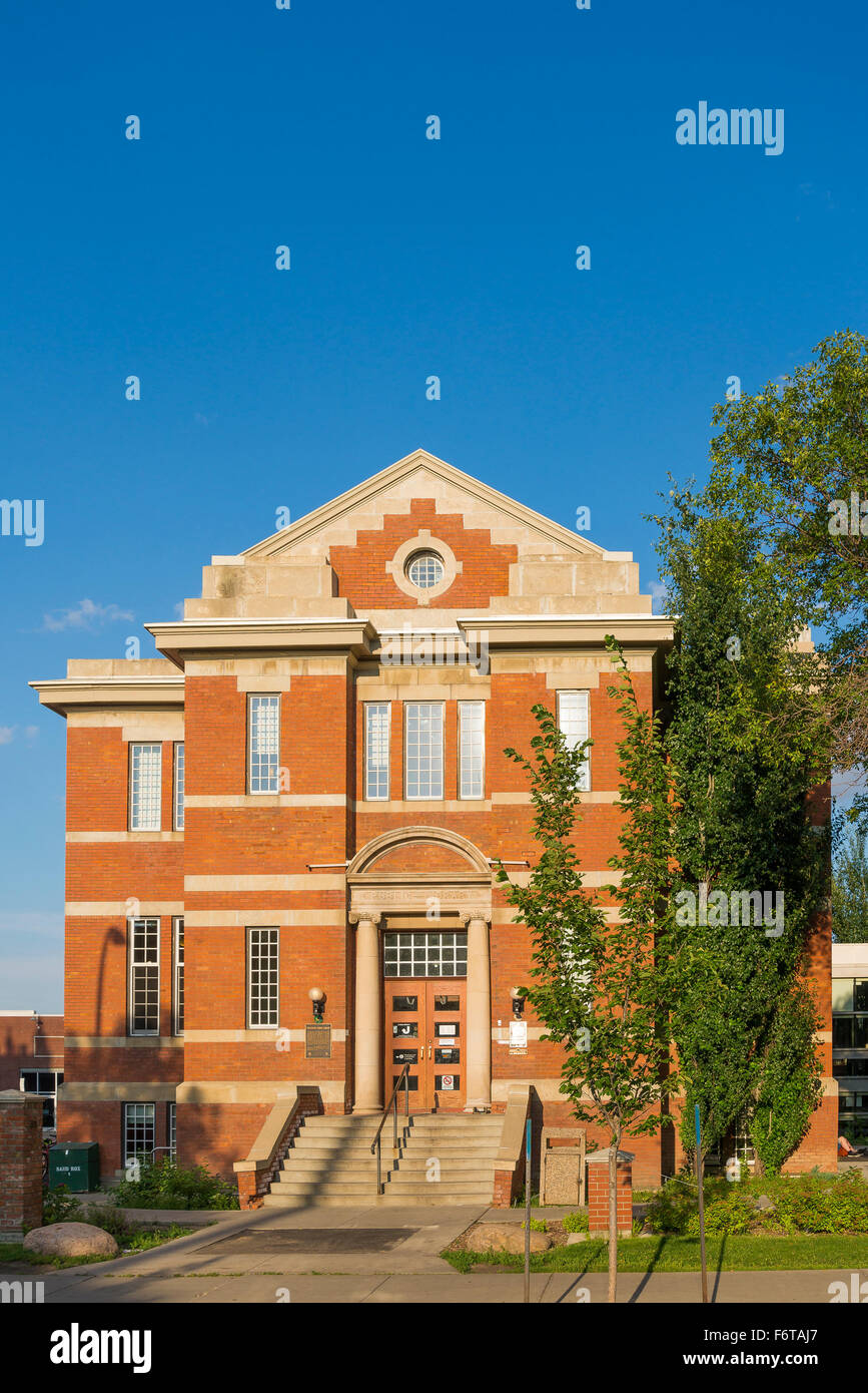 Heritage Library building, Old Strathcona neighbourhood, Edmonton, Alberta, Canada - Stock Image