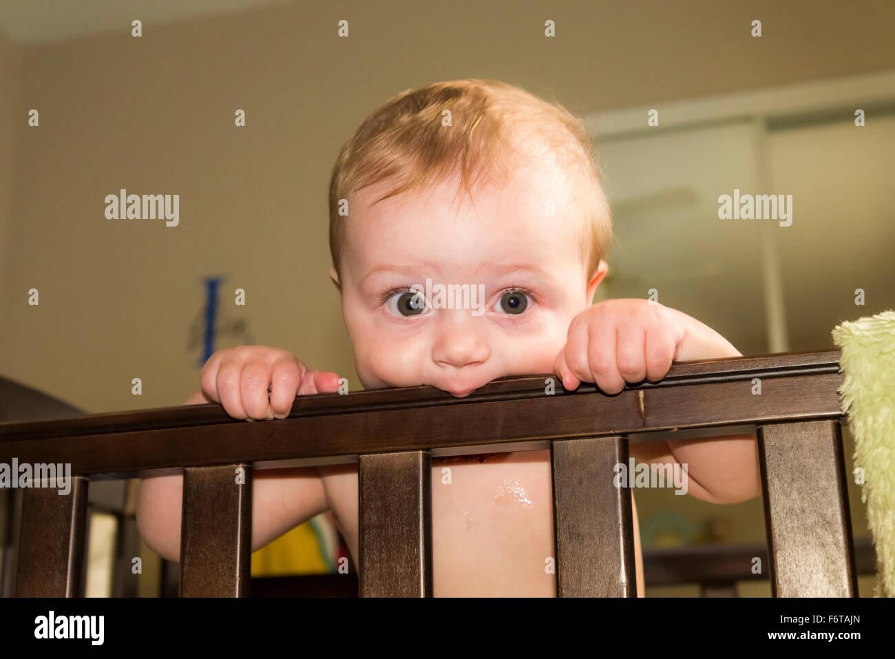 Baby teething - Stock Image