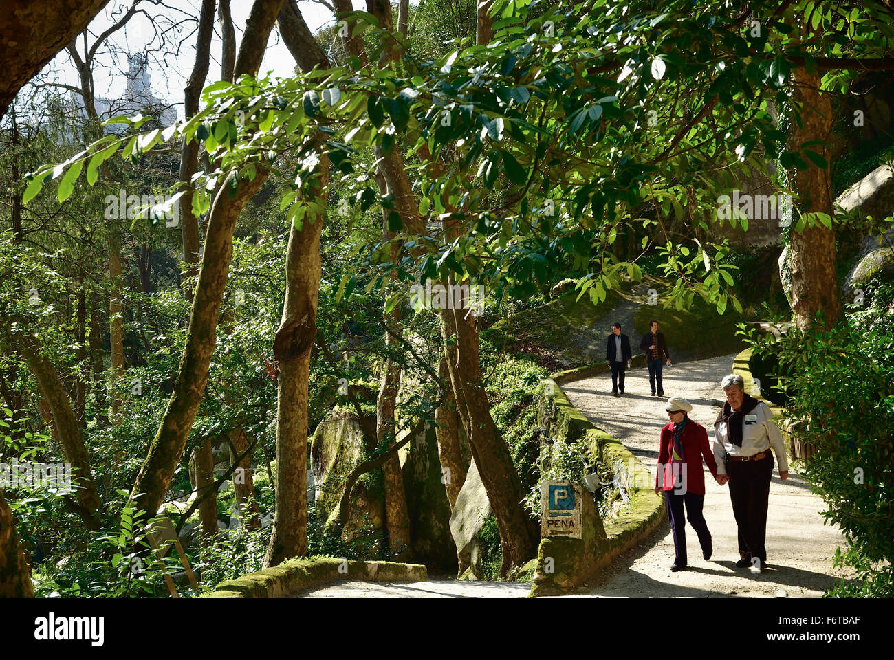 Access Footpaths to Castle of the Moors. Sintra. Portugal. Europe. - Stock Image