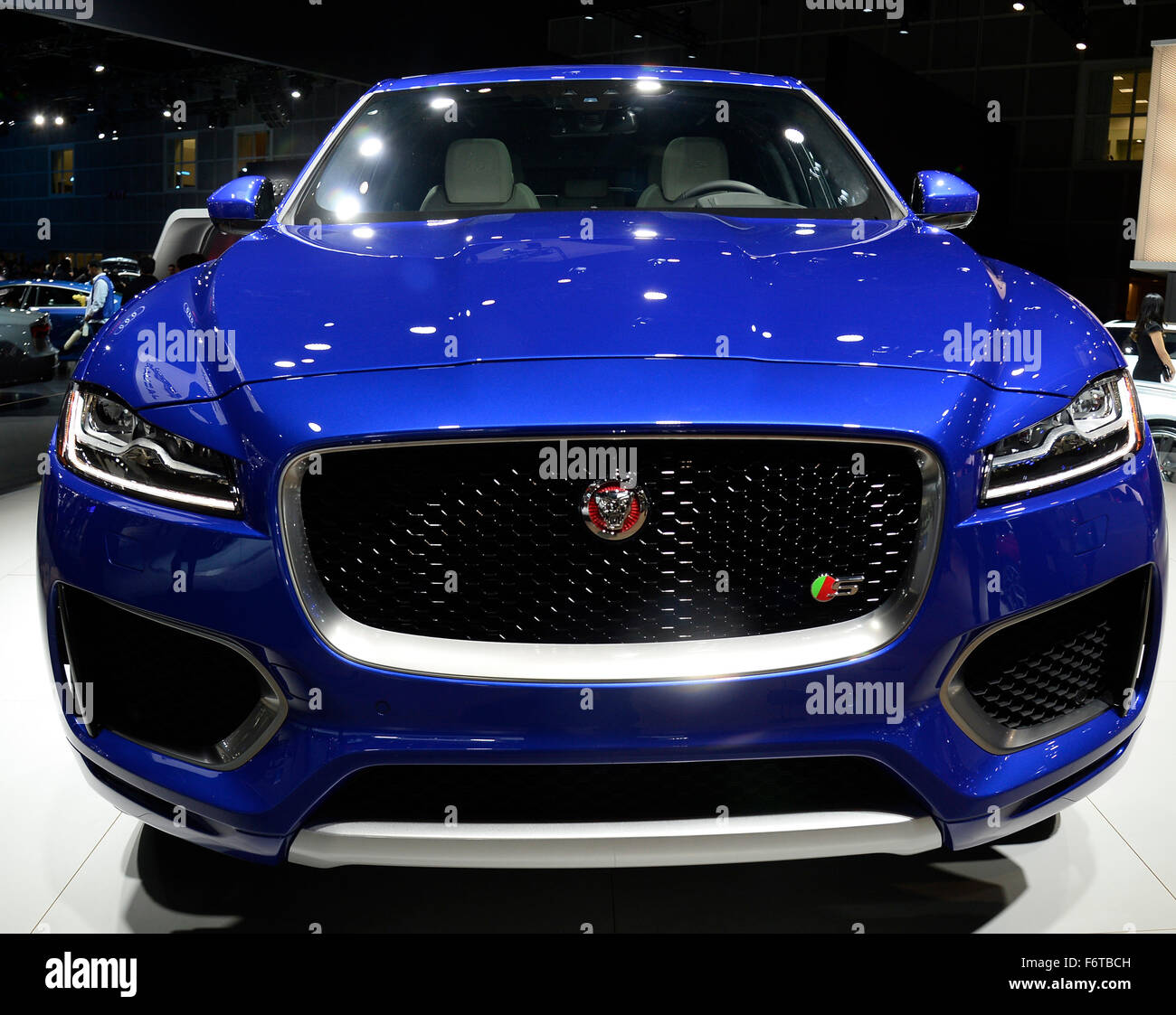 Los Angeles CA Th Nov Jaguar New FPace Car On Display - Car show los angeles ca