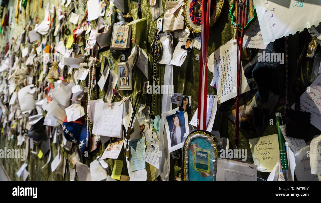 Room of San Martin de Porres in the convent of Santo Domingo in Lima, Peru. Stock Photo