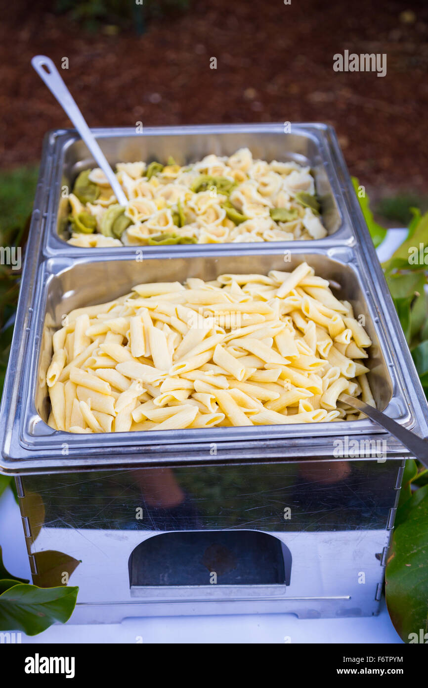 Buffet Dinner At A Wedding Reception Includes Gluten Free Pasta For