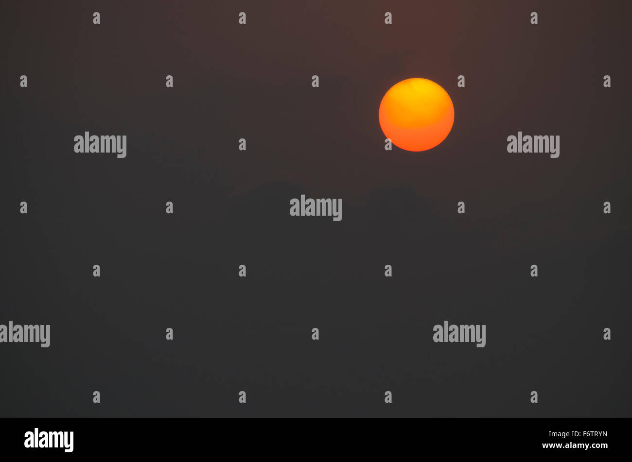 sky night decline - Stock Image