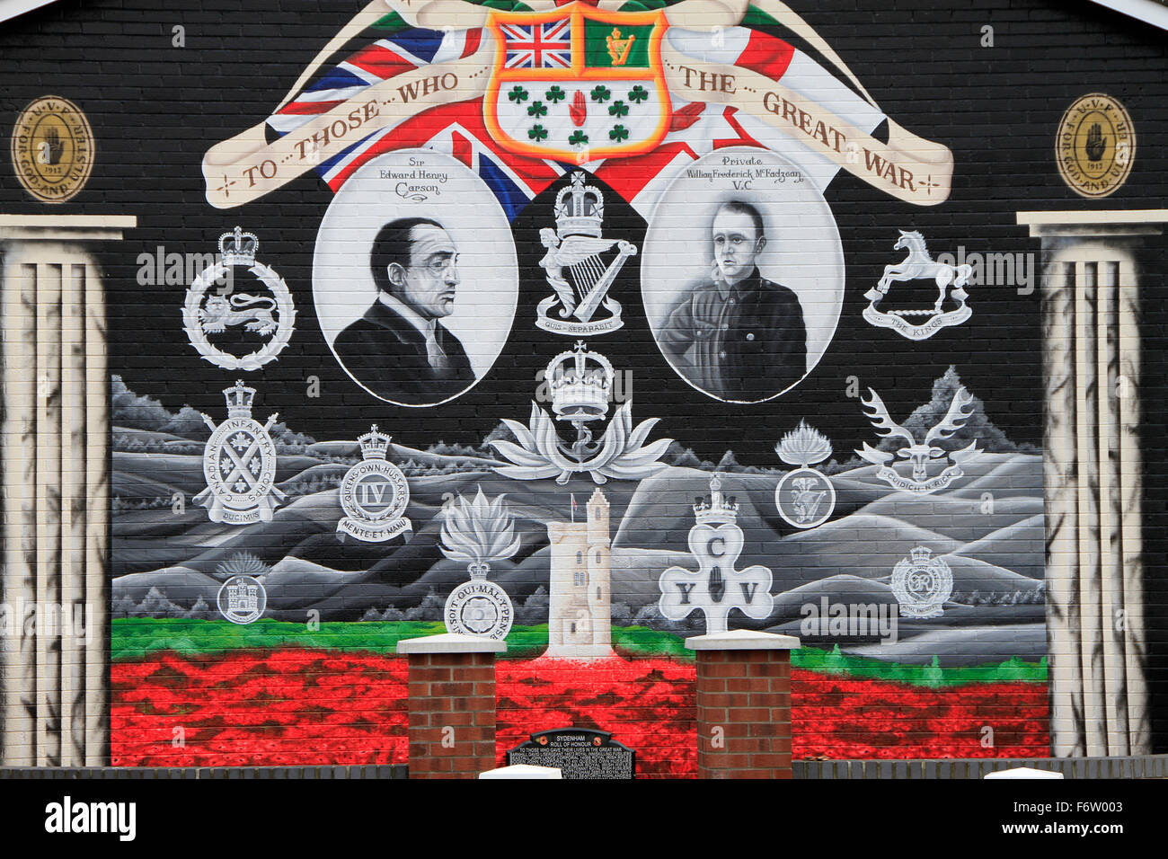 Belfast, Sydenham, mural - Stock Image
