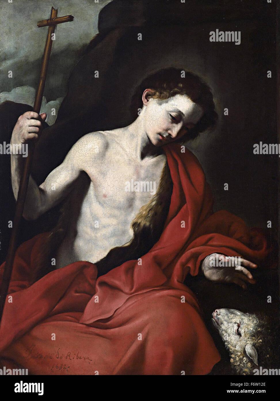 Jusepe de Ribera - Saint John the Baptist - Stock Image
