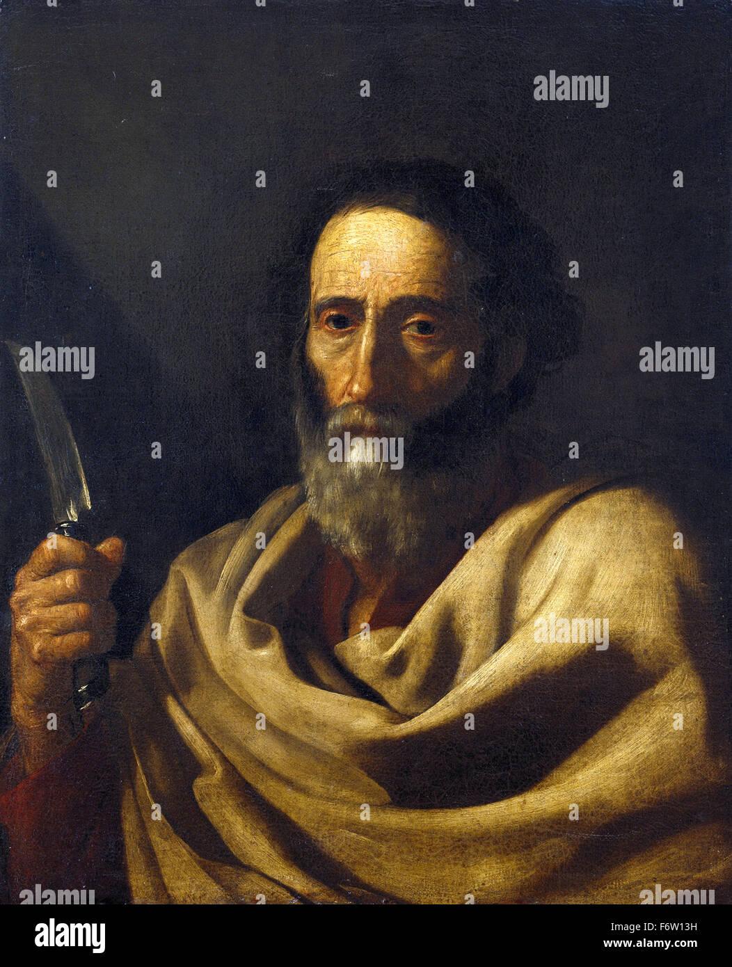 Jusepe de Ribera - Saint Bartholomew - Stock Image