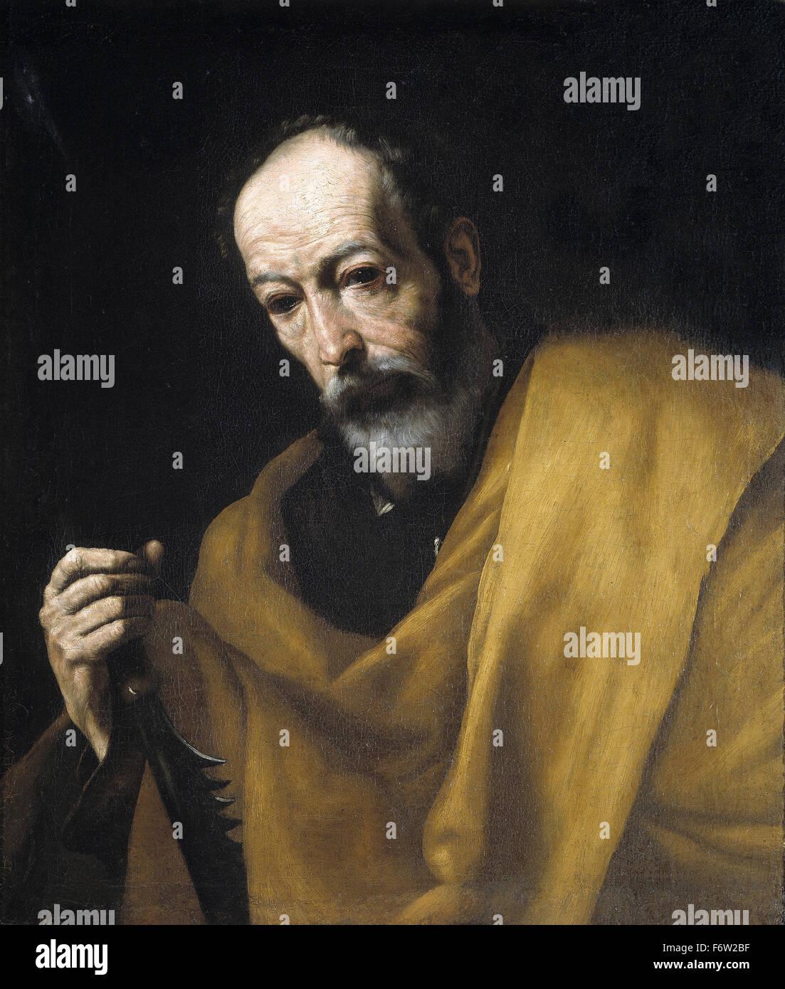 Jusepe de Ribera - Saint Simon - Stock Image