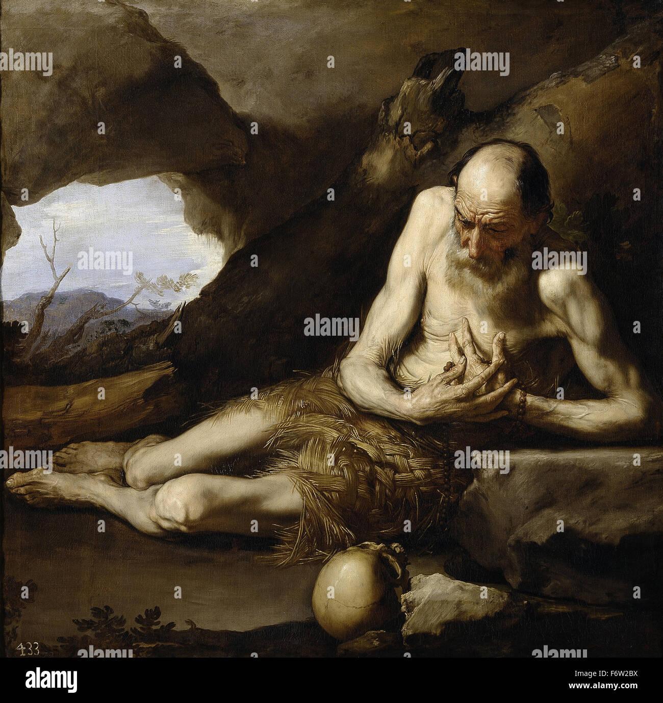 Jusepe de Ribera - Saint Paul the Hermit - Stock Image