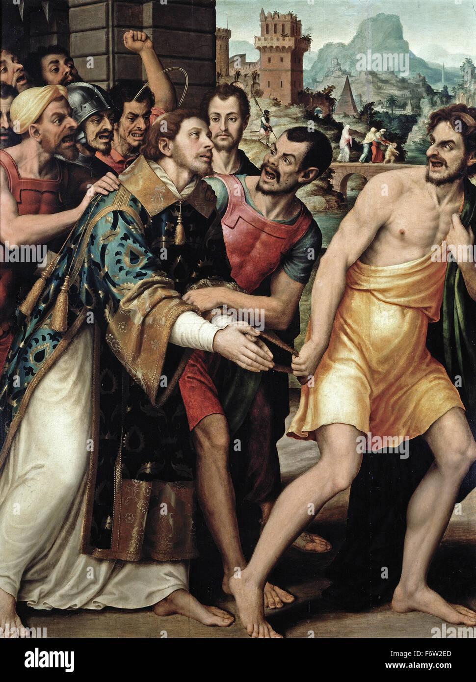 Juan de Juanes - Saint Stephen led to his Martyrdom - Stock Image