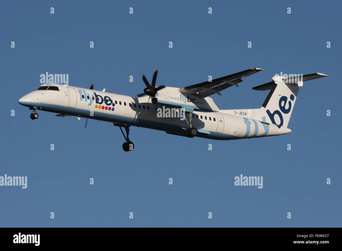 FLYBE DHC8 400 Q400 - Stock Image