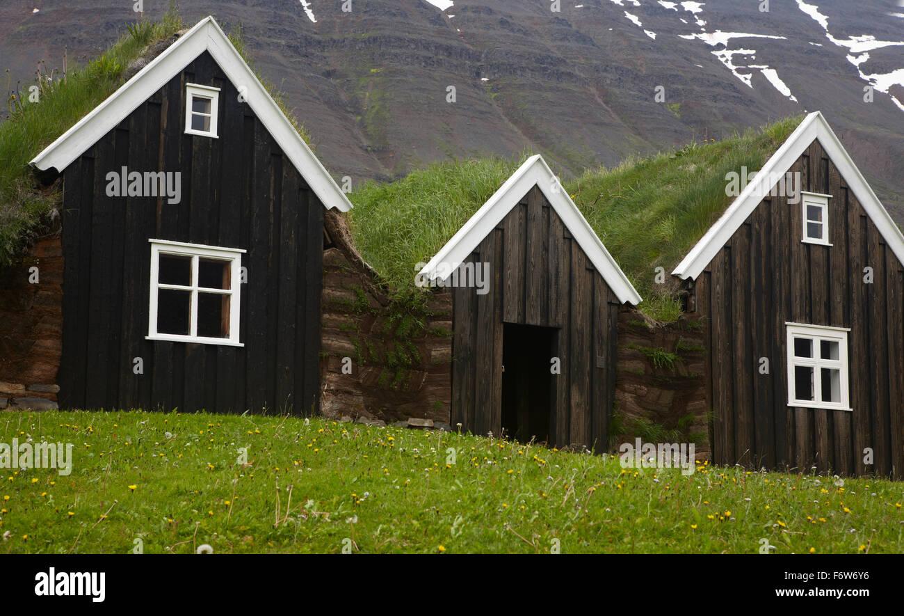 Surprising Icelandic Black Turf Houses In North Iceland Stock Photo Download Free Architecture Designs Xoliawazosbritishbridgeorg