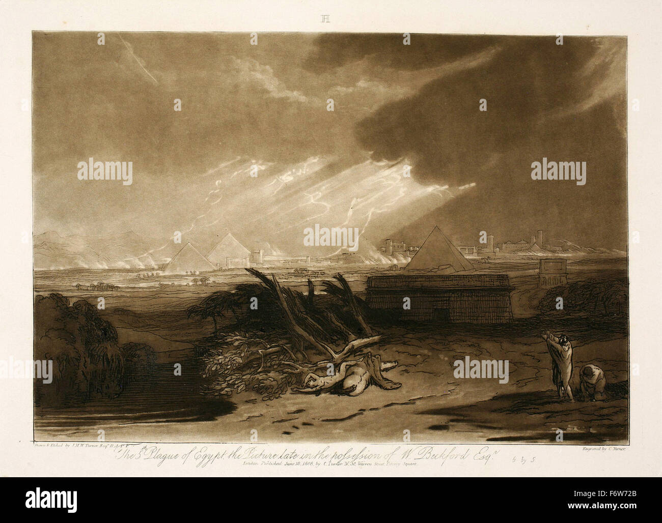Joseph Mallord William Turner - The Fifth Plague of Egypt Stock Photo
