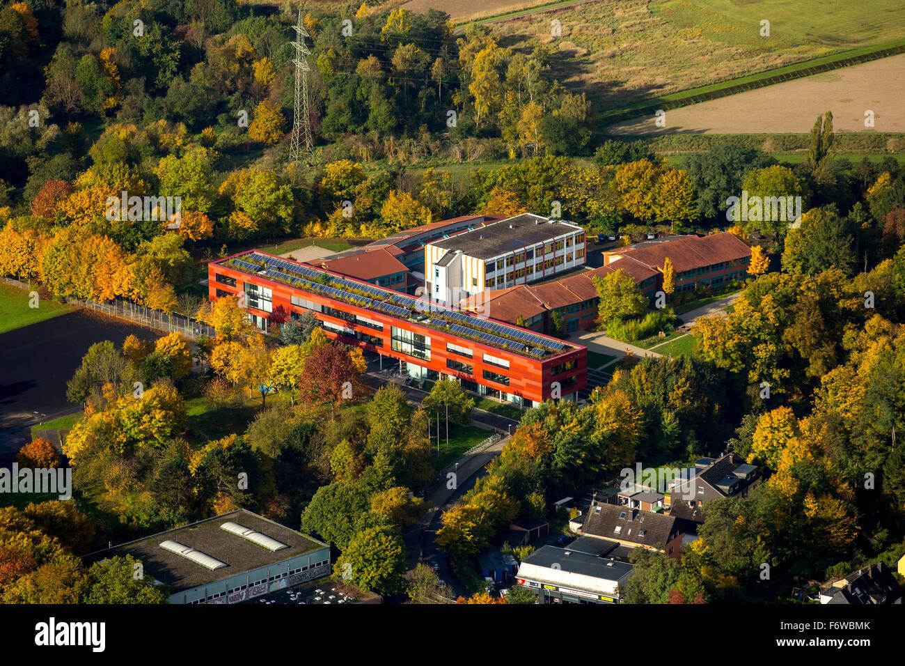 Gymnasium Essen-Überruhr, school, secondary education, Essen, Ruhr area, North rhine westphalia, Germany, Europe, - Stock Image