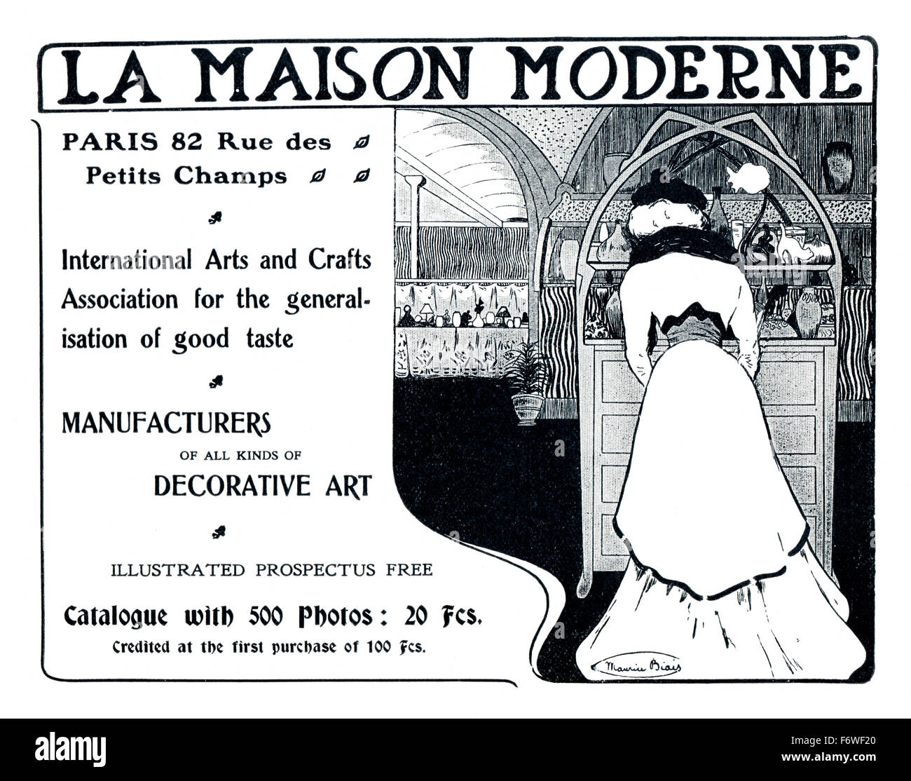 La Maison Moderne, Parisian Arts and Crafts Gallery 1903 Stock Photo ...