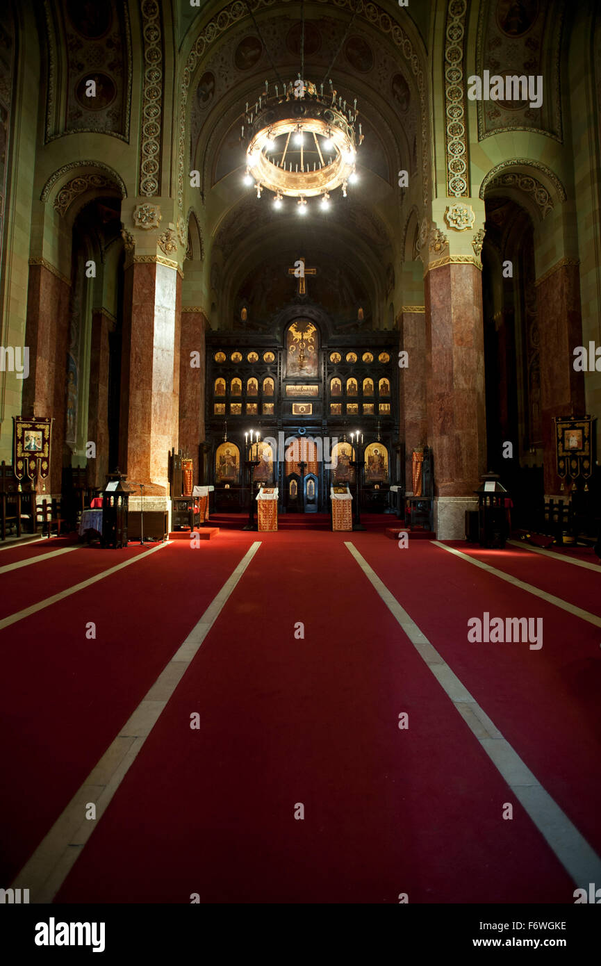 The Orthodox Cathedral of Reunification, Alba Iulia, Transylvania, Romania - Stock Image
