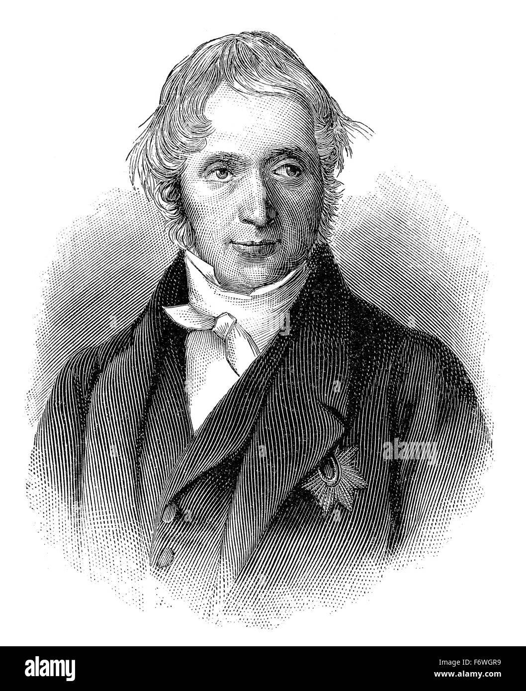 Karl Georg Maassen, 1769 - 1834, a Prussian lawyer, politician and co-founder of the German customs union, Karl - Stock Image