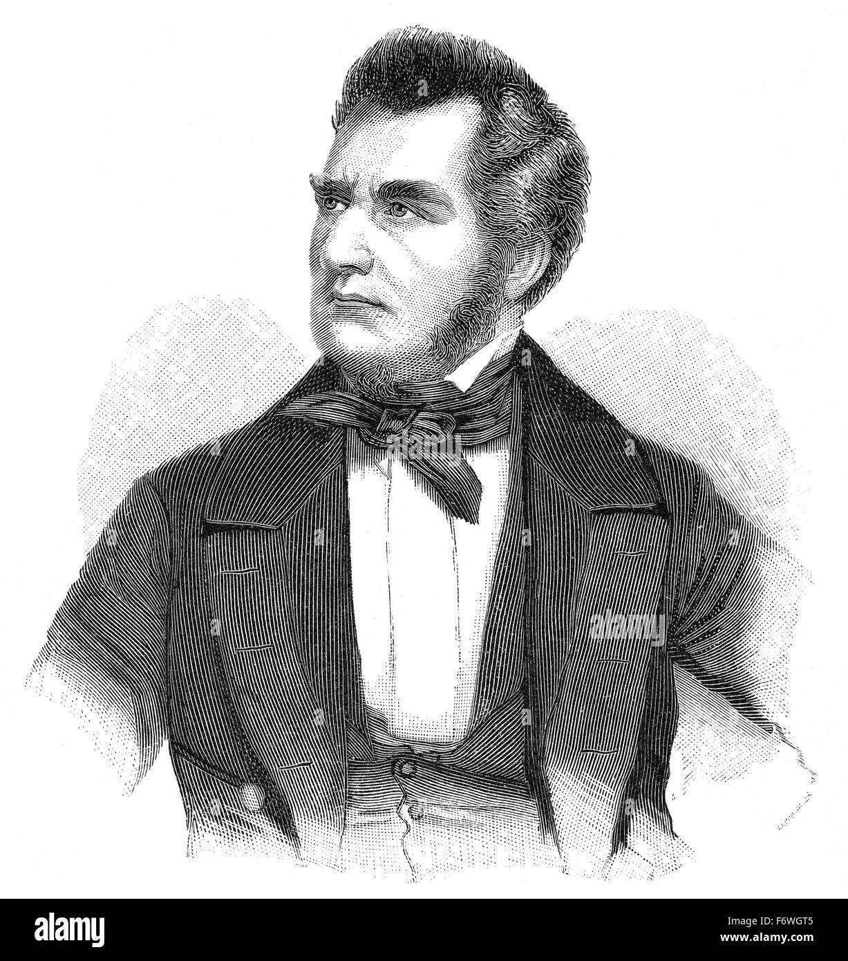 Heinrich Wilhelm August Freiherr von Gagern, 1799 - 1880, a German statesman, - Stock Image