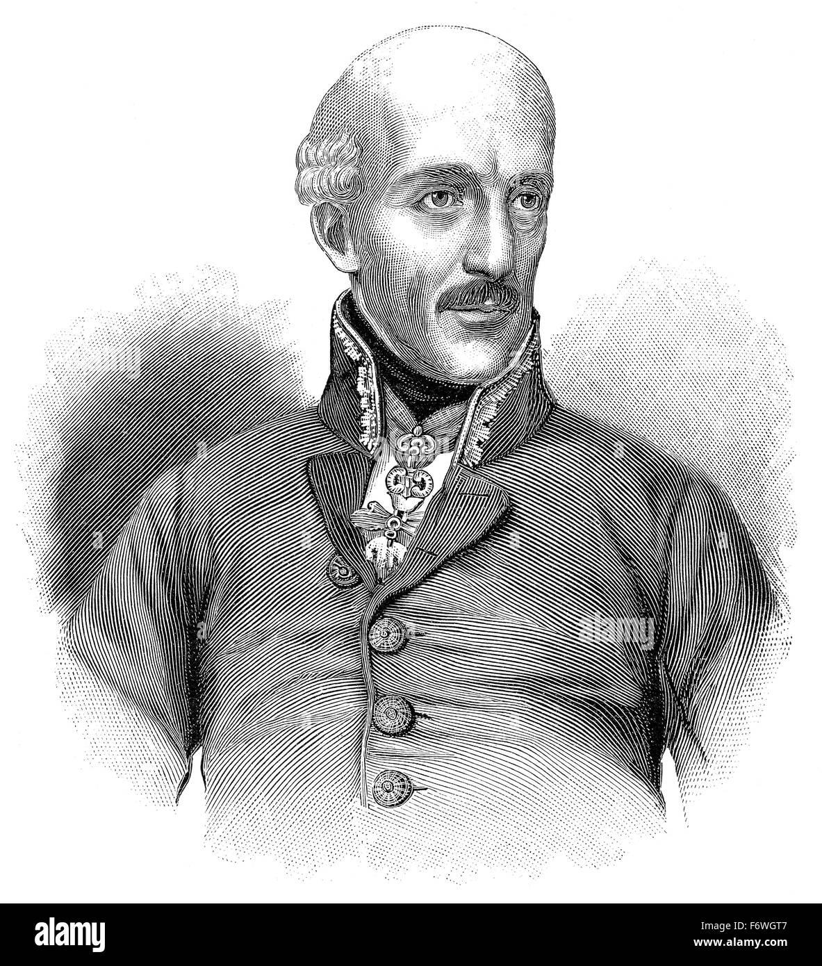 Archduke John of Austria, 1782 - 1859, an Austrian field marshal and German Imperial regent, Habsburg dynasty, Erzherzog - Stock Image