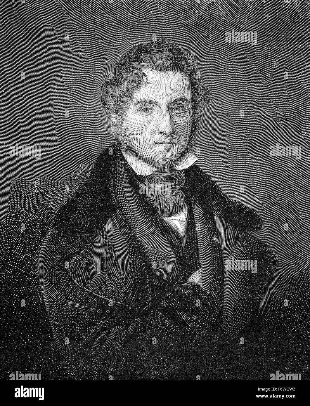 Justus von Liebig, 1803 - 1873, a German chemist and professor, - Stock Image