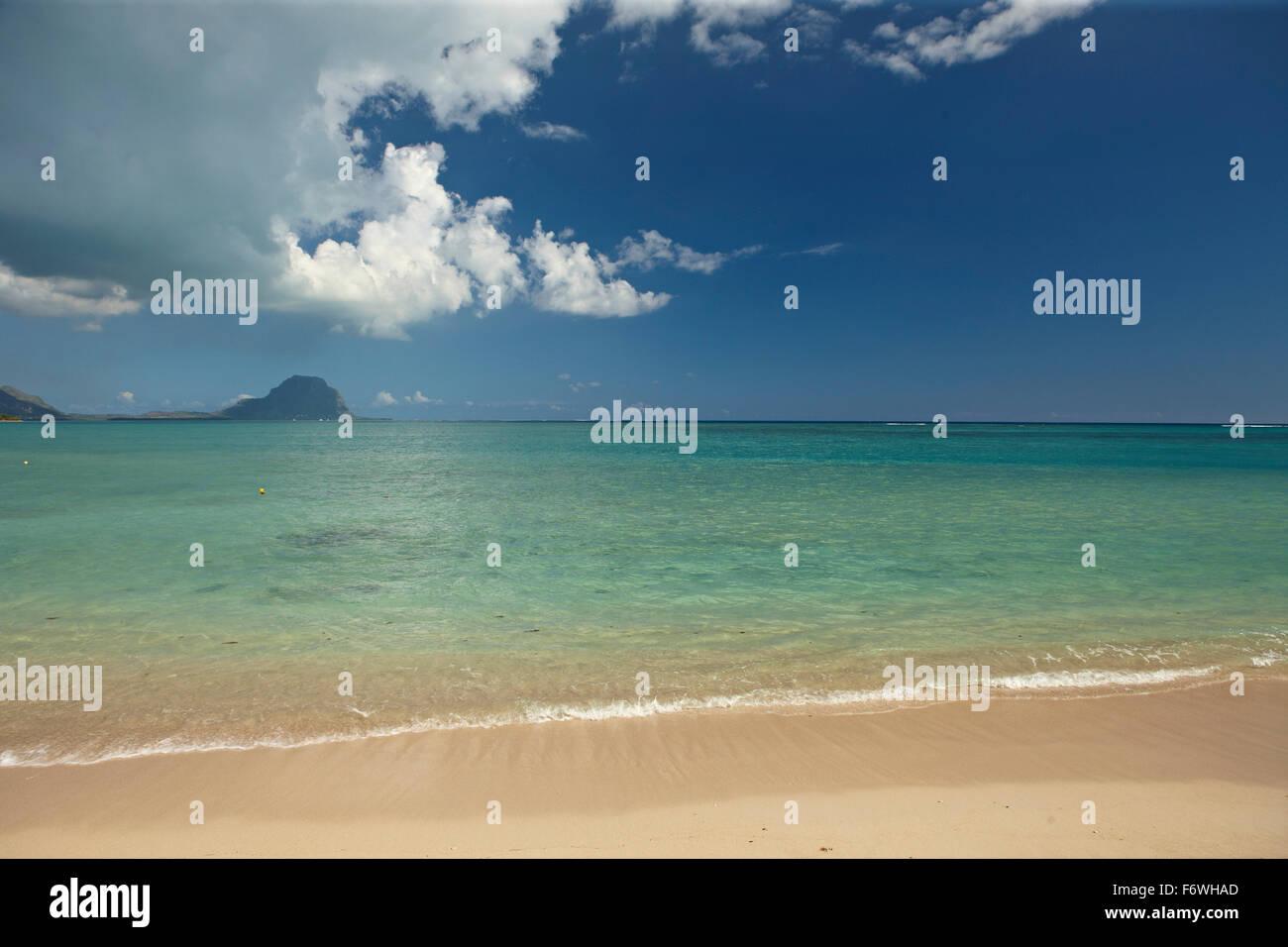 Beach, Tamarin, Mauritius - Stock Image
