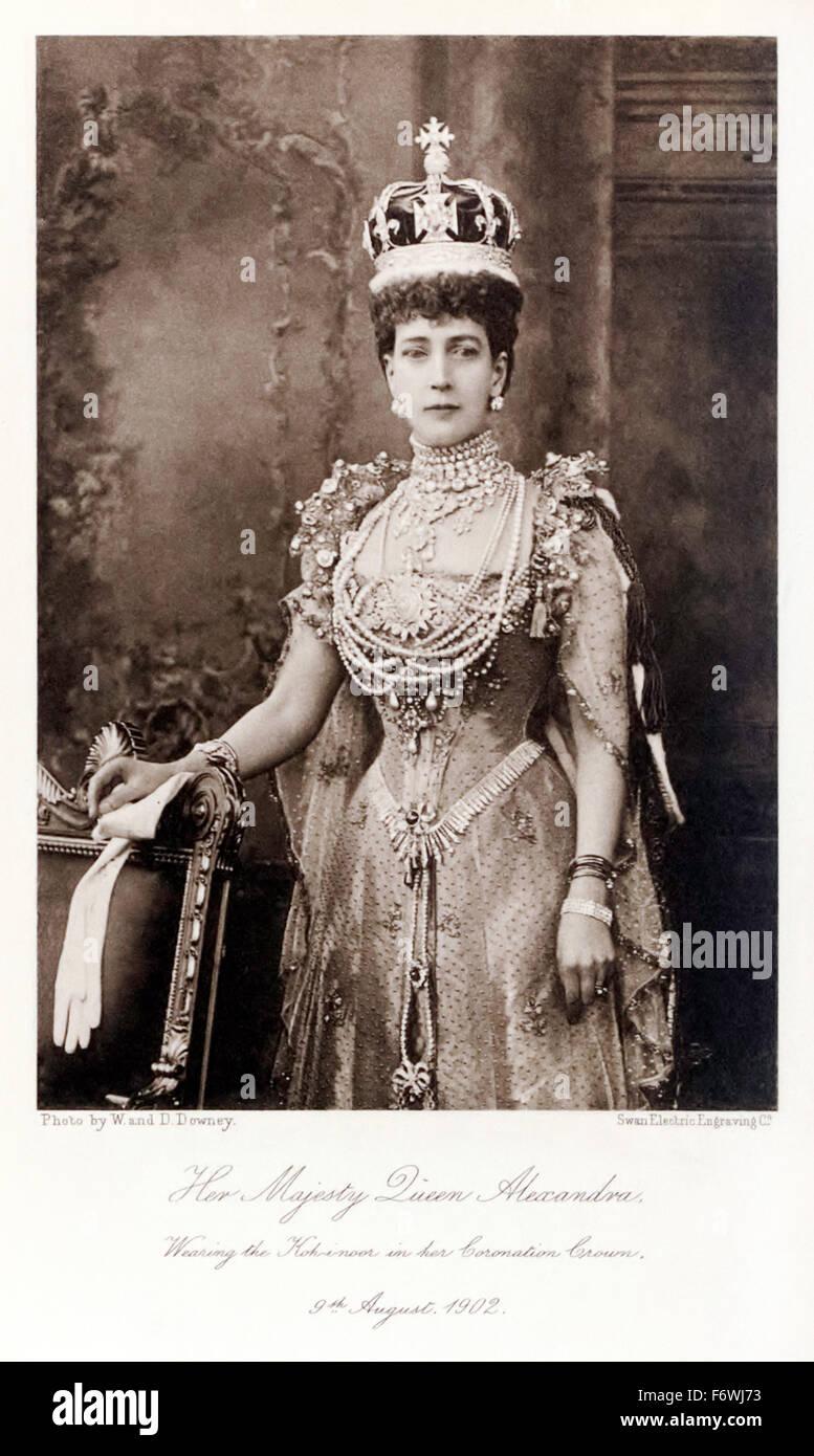Her Majesty Queen Alexandra (1844-1925) (aka Alexandra of Denmark) Queen consort of the United Kingdom of Great - Stock Image