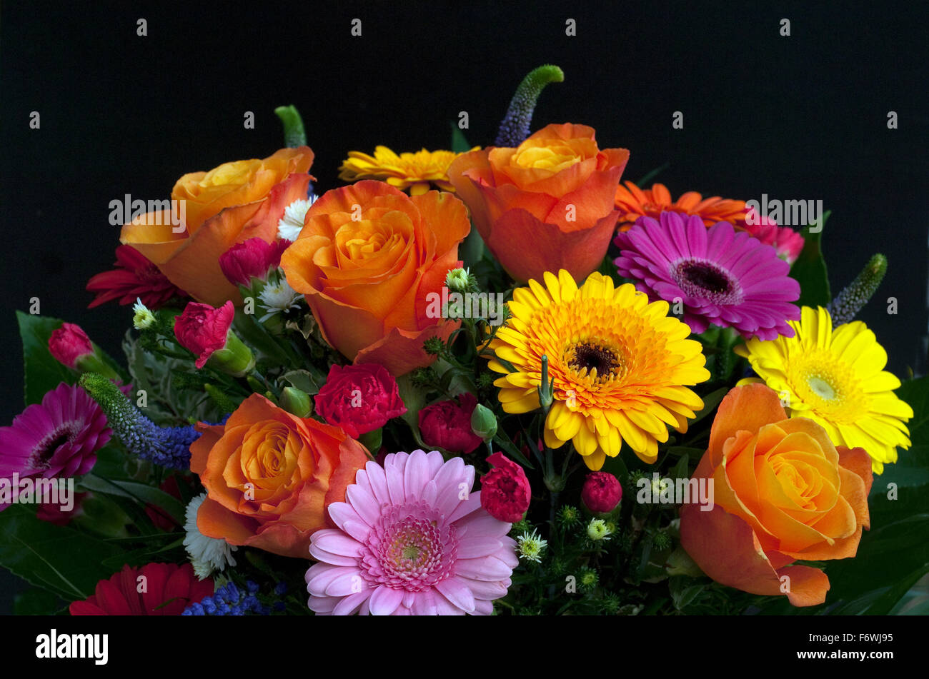 Blumenstrauss, Strauss, bunter Stock Photo