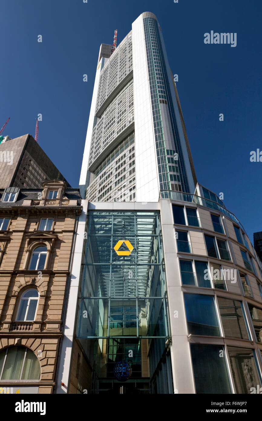 Commerzbank Tower, Frankfurt, Hesse, Germany Stock Photo