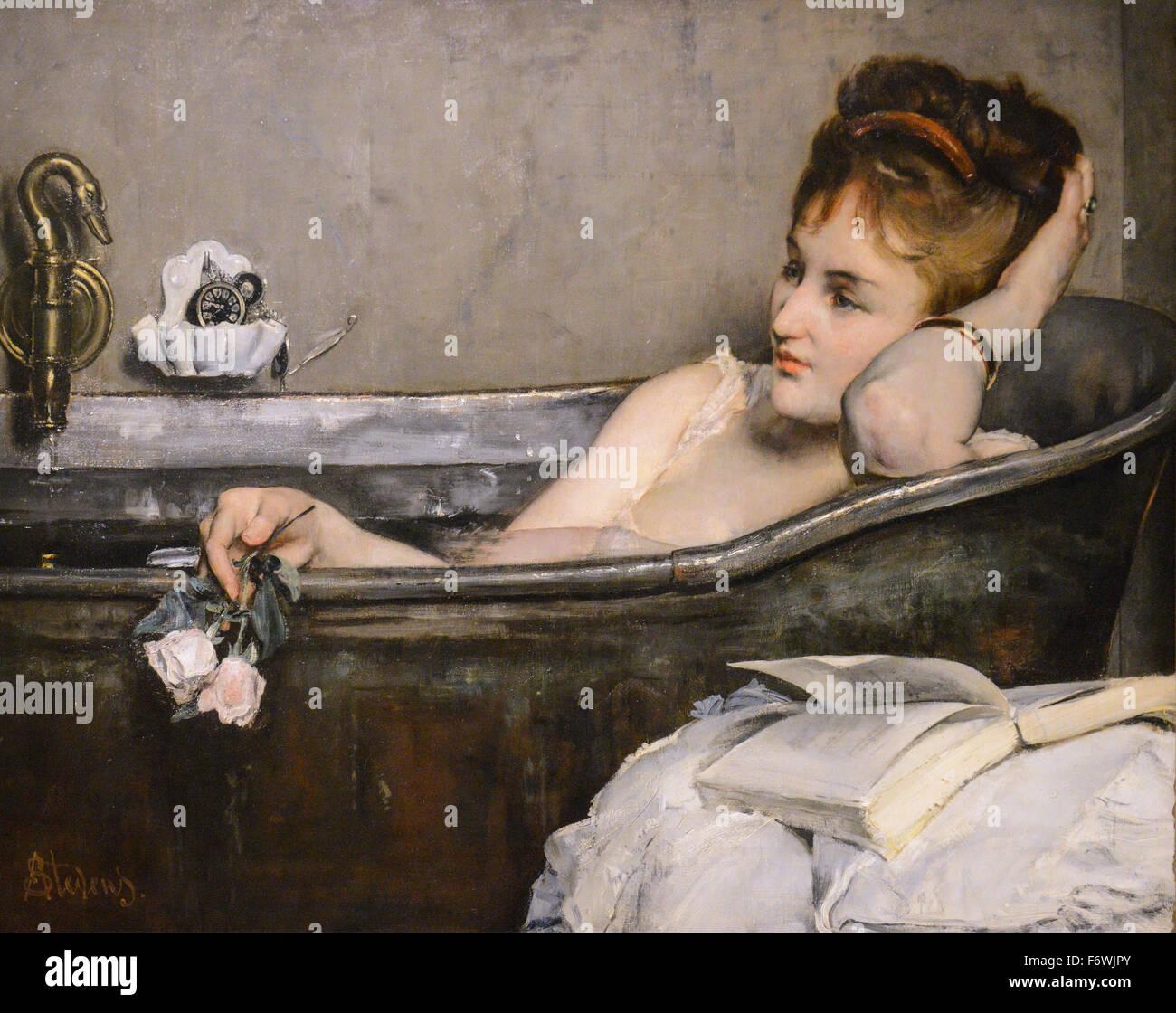 Alfred Stevens - Le Bain 1867 - Stock Image